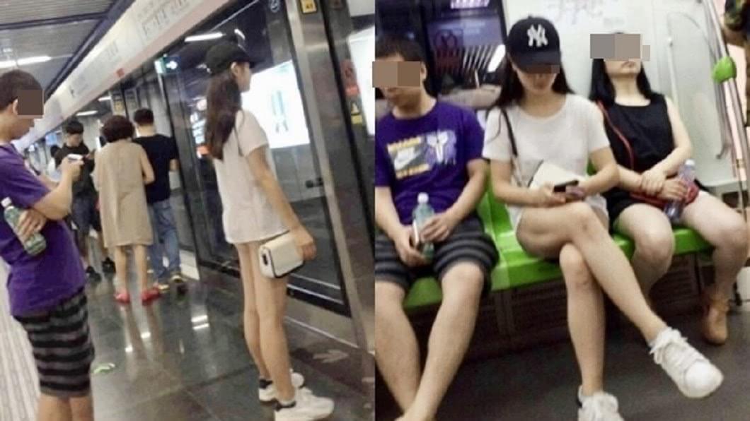 圖/翻攝微博 地鐵驚見長髮正妹!一坐下「豪放開腿」 他看傻:下空?