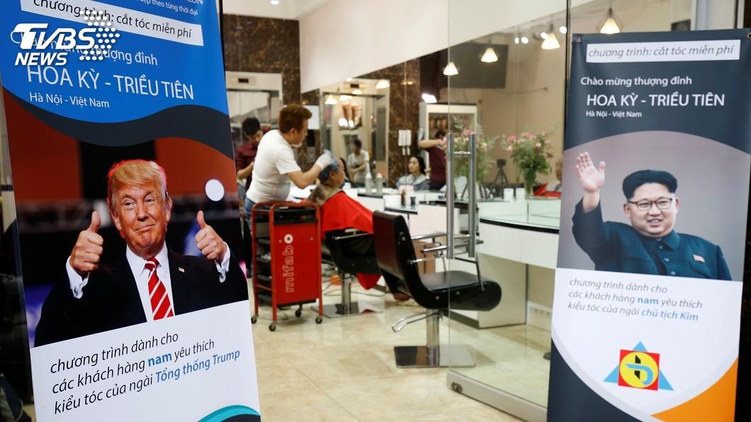 圖/達志影像路透社 川金二會將登場 河內理髮店免費剪川金髮型