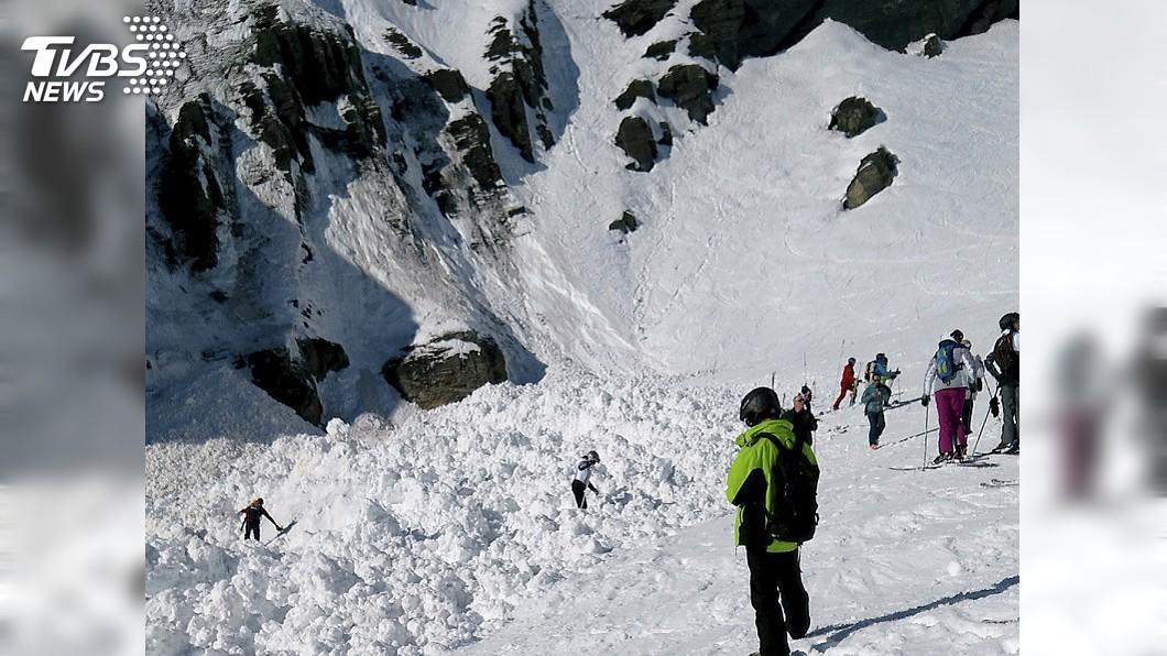 圖/達志影像美聯社 瑞士滑雪場雪崩 10多人遭活埋4人獲救