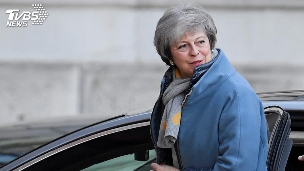 圖/達志影像路透社 解決脫歐危機 梅伊赴歐盟總部再協商