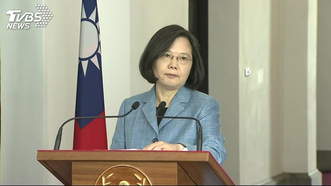 圖/TVBS 蔡總統:不接受任何消滅或傷害國家主權的協議