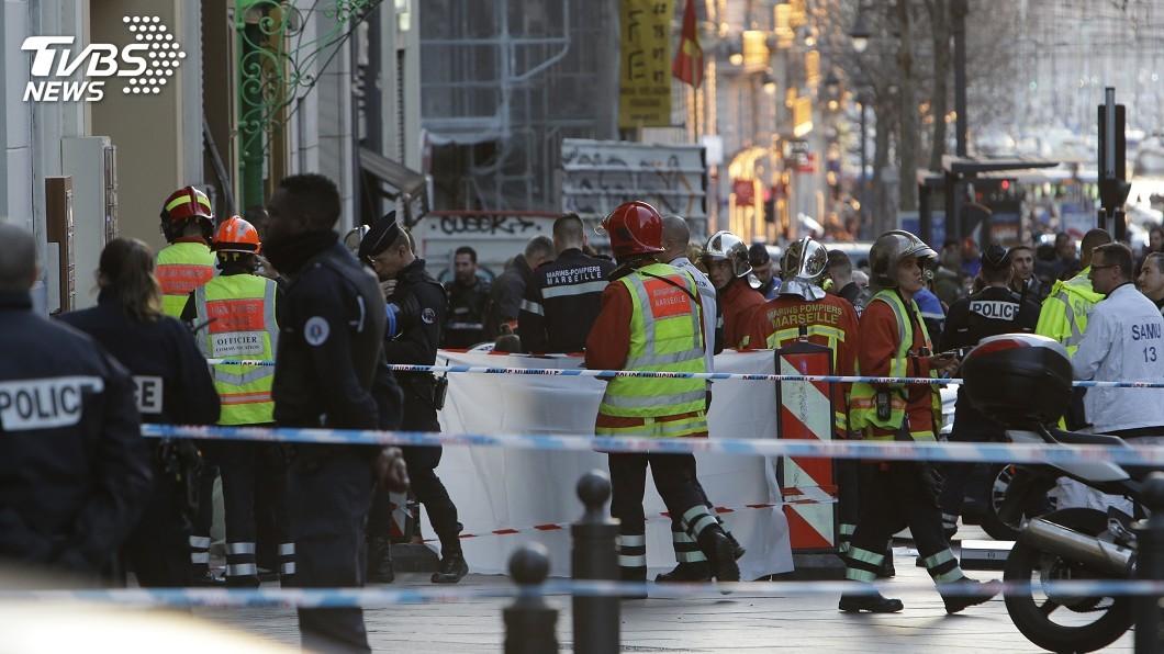 圖/達志影像美聯社 馬賽發生揮刀砍人事件 歹徒遭警擊斃