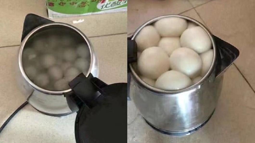 圖/翻攝自爆料公社 快煮壺新功能?燒湯圓開蓋變「蒸饅頭」 這份量讓他傻眼