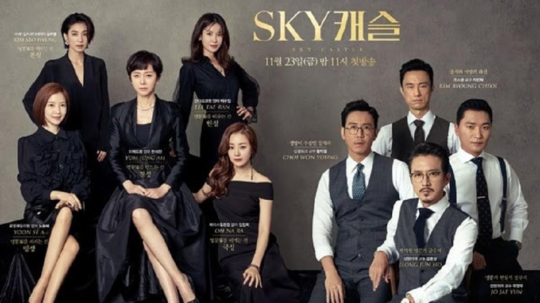 全是老面孔,全是戲精,演出韓國教育黑暗面,飆出超高收視率。(圖/天空之城劇照;截自韓國JTBC官網)