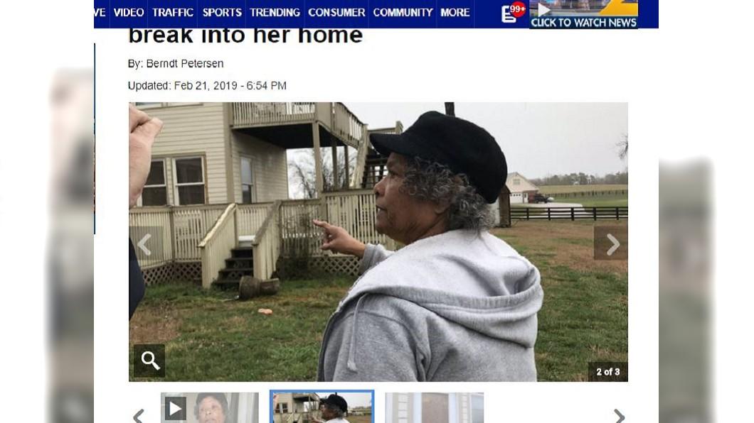 這名阿嬤面對搶匪完全不怕。圖/翻攝自WSB-TV網站
