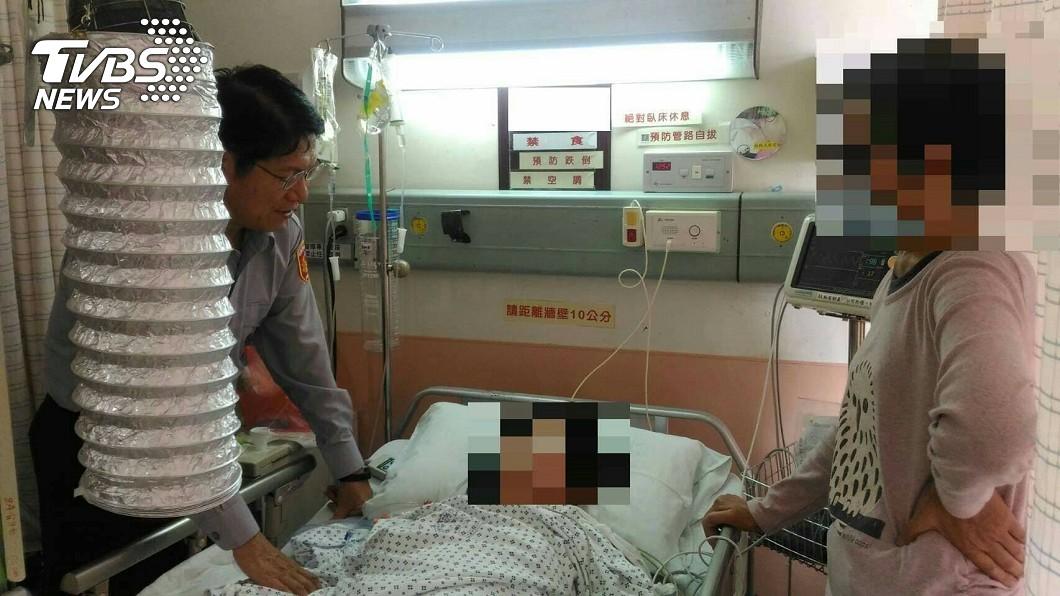 被害婦人經送醫搶救,腹部臟器修復手術順利,目前意識清楚。圖/TVBS