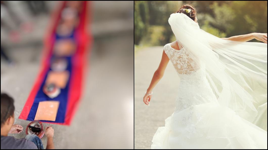 圖/(左)翻攝爆廢公社,(右)TVBS示意圖 迎娶美嬌娘驚見「超狂七星爐」 網笑歪:新郎的復仇?