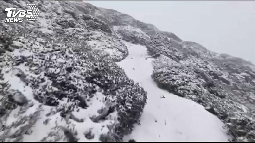 圖/TVBS資料畫面 水氣與氣溫的配合 專家:高山初雪機率高