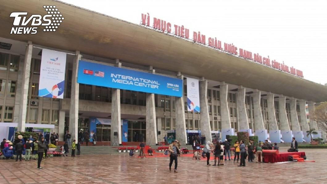川金二會,河內越蘇友誼文化宮為媒體中心。(圖/中央社)