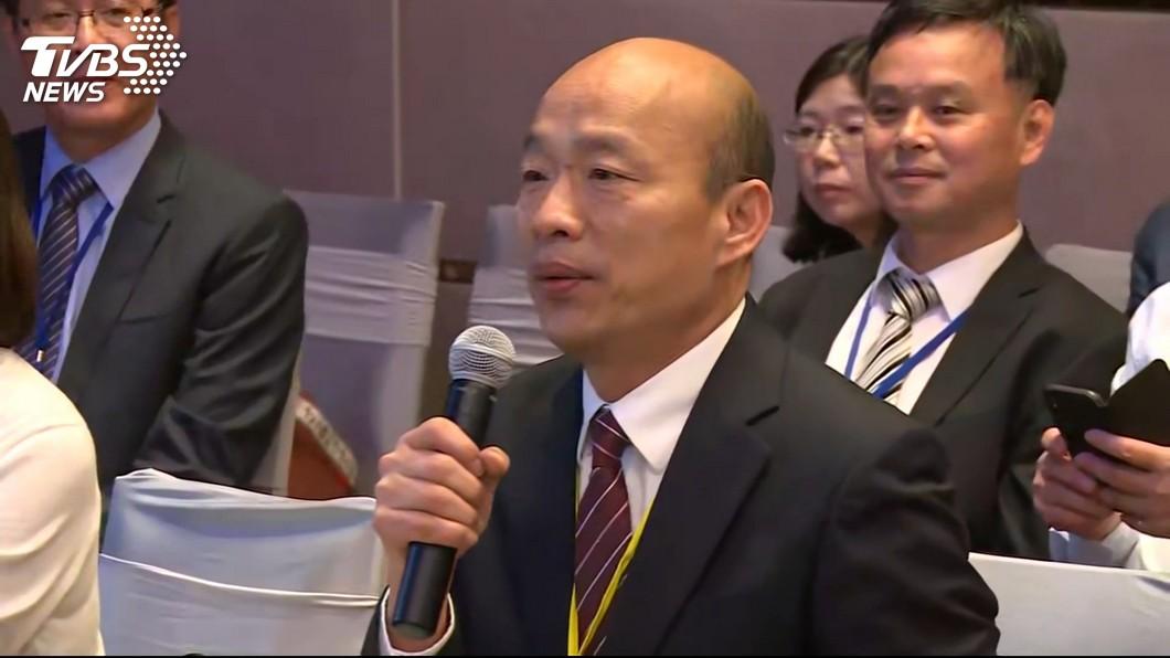 高雄市長韓國瑜。圖/TVBS 韓國瑜說「這句話」 羅智強讚爆:這就是氣度!