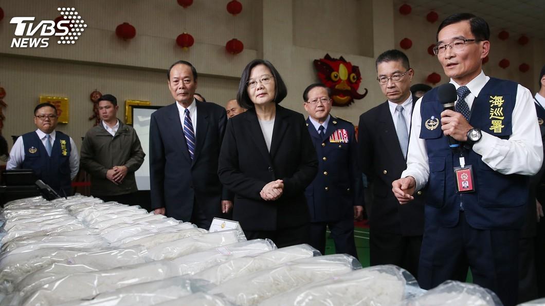 圖/中央社 海巡破獲市值逾10億毒品 蔡總統力挺執法人員