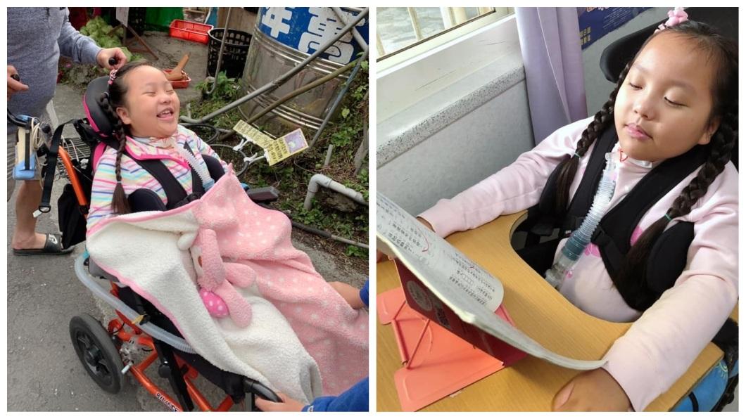 6年前因車禍導致癱瘓的女童珣珣,現在已經是小學三年級了。(圖/翻攝自臉書) 車禍導致癱瘓…療癒天使珣珣近況曝光:我會珍惜每一天