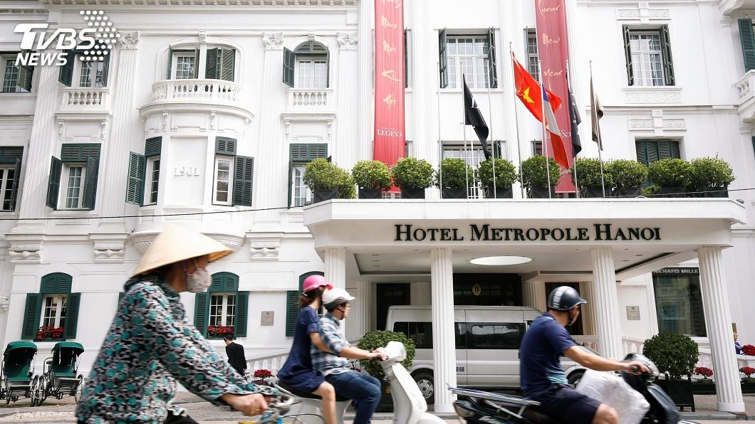 圖/達志影像路透社 川金二會 大都會酒店進行20分鐘一對一會談