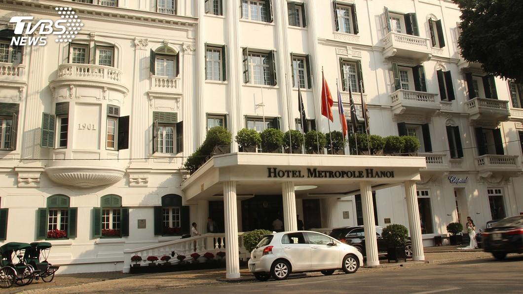 圖/中央社 河內百年歷史大都會酒店 川金二會首選地點