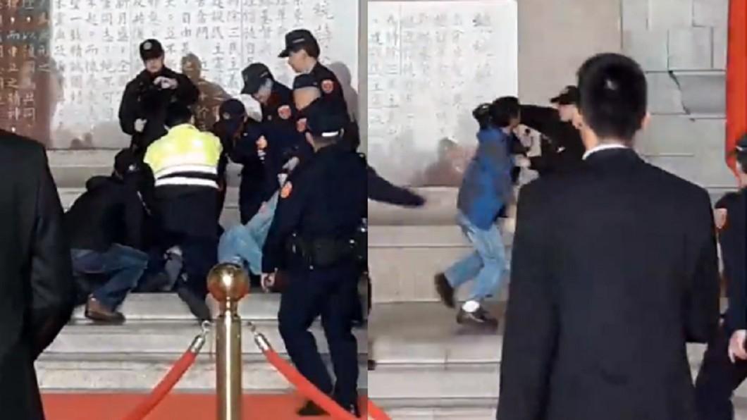 圖/翻攝台灣國辦公室臉書 海鮮粥砸蔣公銅像!鬧事男是他 動機曝「為了轉型正義」