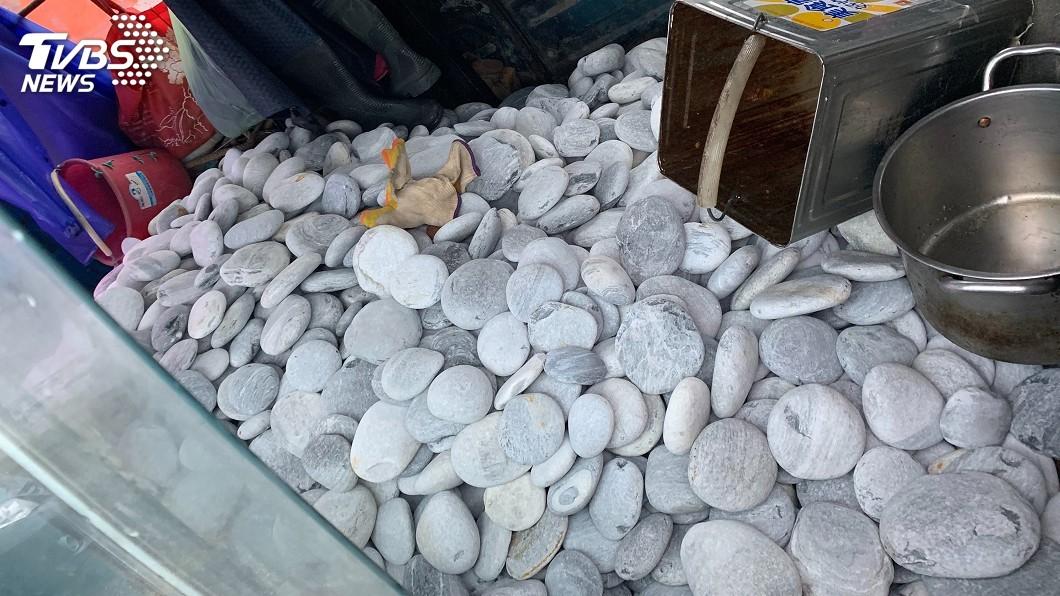 圖/中央社 私搬海灘逾1噸鵝卵石 花蓮男被依竊盜罪法辦