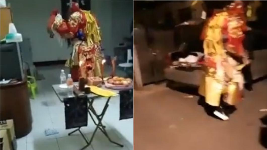 臉書社團全程直播送肉粽儀式,引發熱議。圖/翻攝自臉書「61靈異探險團」