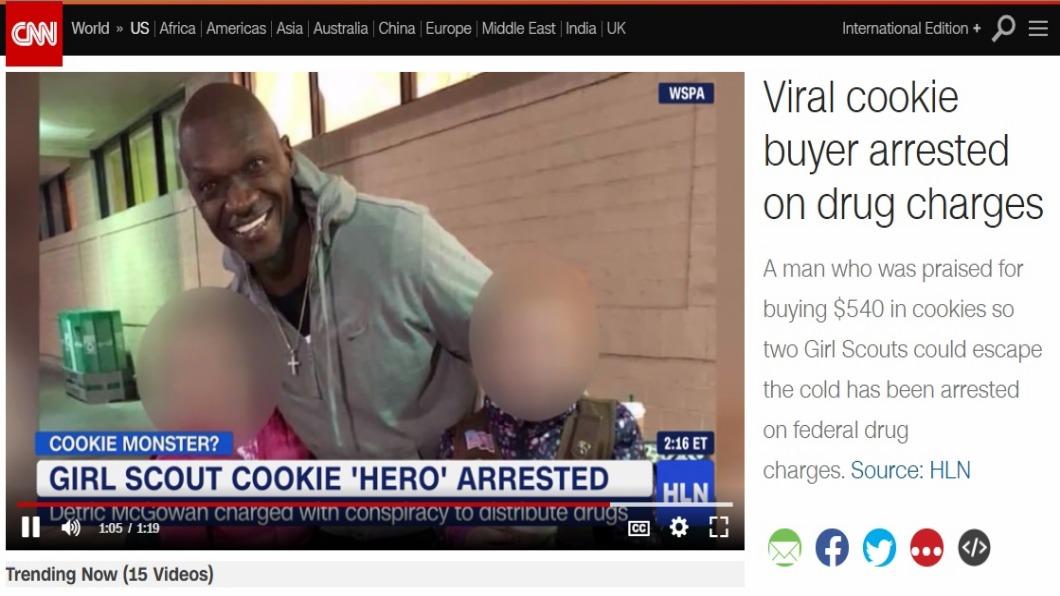 圖/翻攝自CNN 心疼女童寒風賣餅乾「掏1.5萬全包」 暖男卻遭捕!