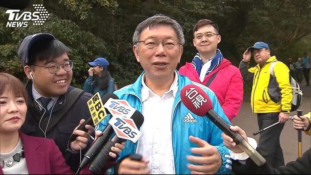 圖/TVBS 機場坐地充電挨批 柯文哲嗆:台灣社會很假掰
