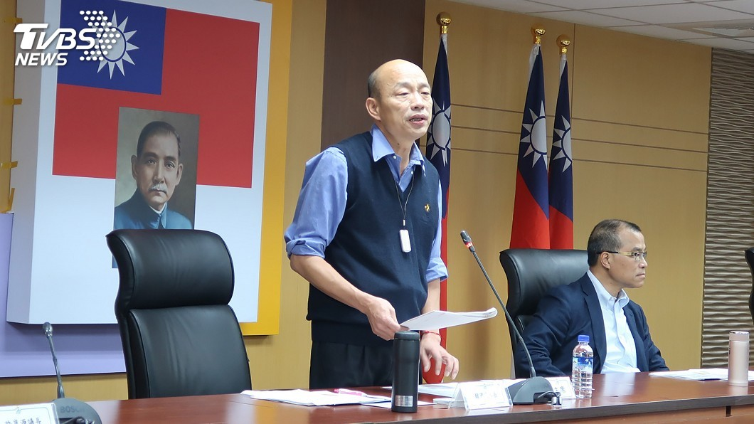 圖/中央社 擬3月下旬登陸經貿交流 韓國瑜允遵中央規定