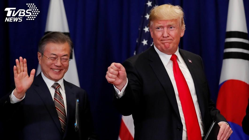 圖/達志影像路透社 對北韓寧邊核設施觀點 文在寅與川普有差異