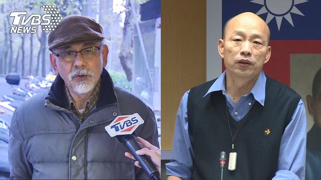 高雄市長韓國瑜(右)、前民進黨立委林濁水(左)。圖/TVBS 被批像酸梅! 林濁水再酸韓:性子敏感直比林黛玉
