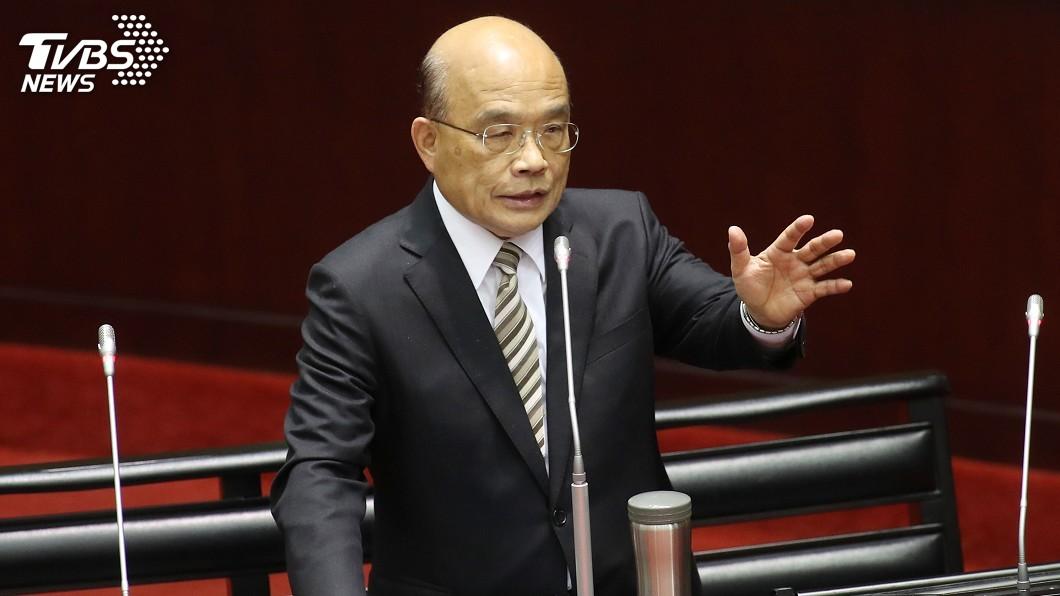 圖/中央社 傳韓國瑜11月訪美缺席總質詢 蘇貞昌:要尊重議會