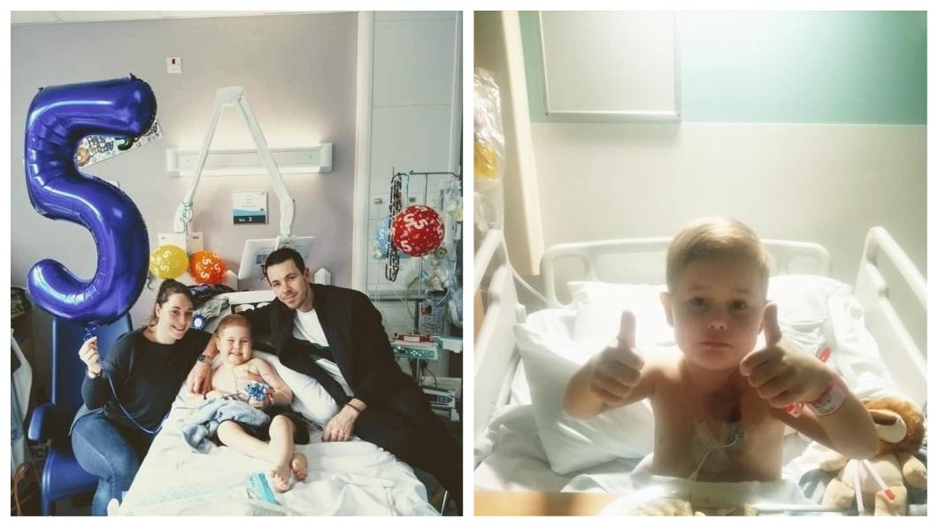 英國一名5歲男童罹患了白血病,急需進行幹細胞移植,醫師評估他僅剩3個月壽命可活。(圖/翻攝自Hand In Hand for Oscar臉書粉絲團) 5歲男童罹血癌剩3月可活 5千人冒雨排隊配對幹細胞