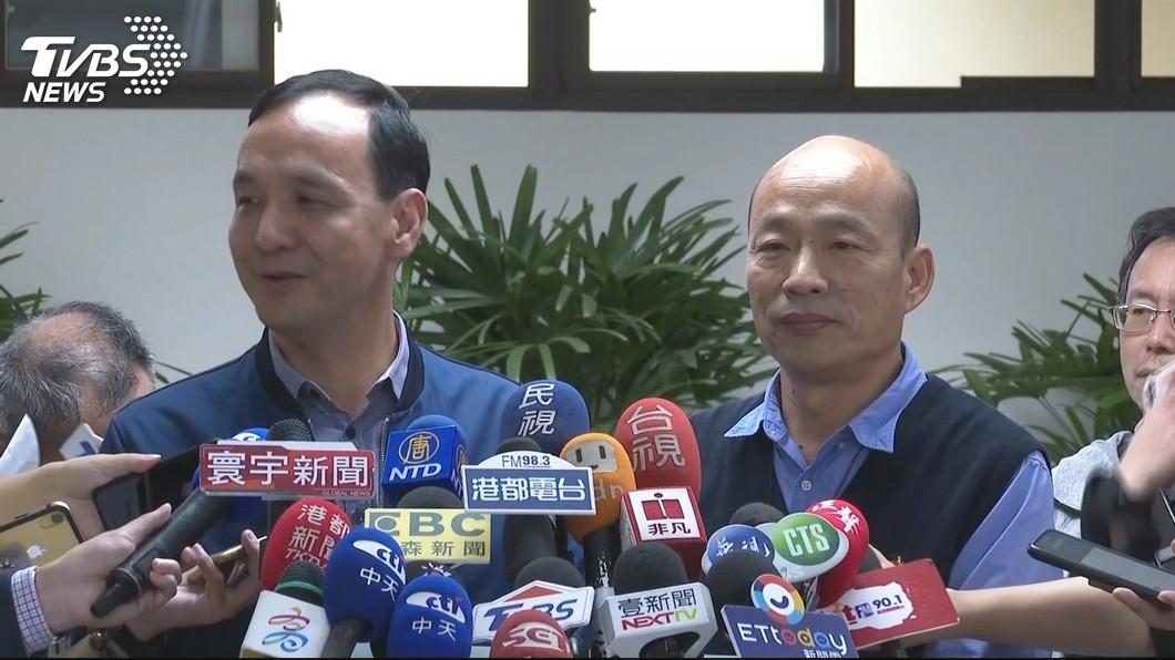圖/TVBS資料畫面 國民黨若徵召韓國瑜「是否當副手?」 朱立倫這樣回