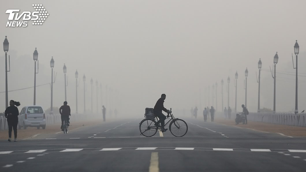 圖/達志影像路透社 各國首都空氣污染 印度新德里最嚴重