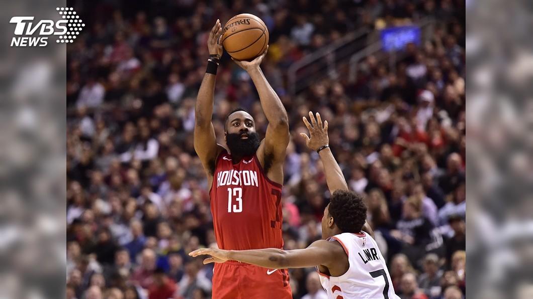 圖/達志影像美聯社 「大鬍子」哈登轟35分 NBA火箭獵暴龍6連勝