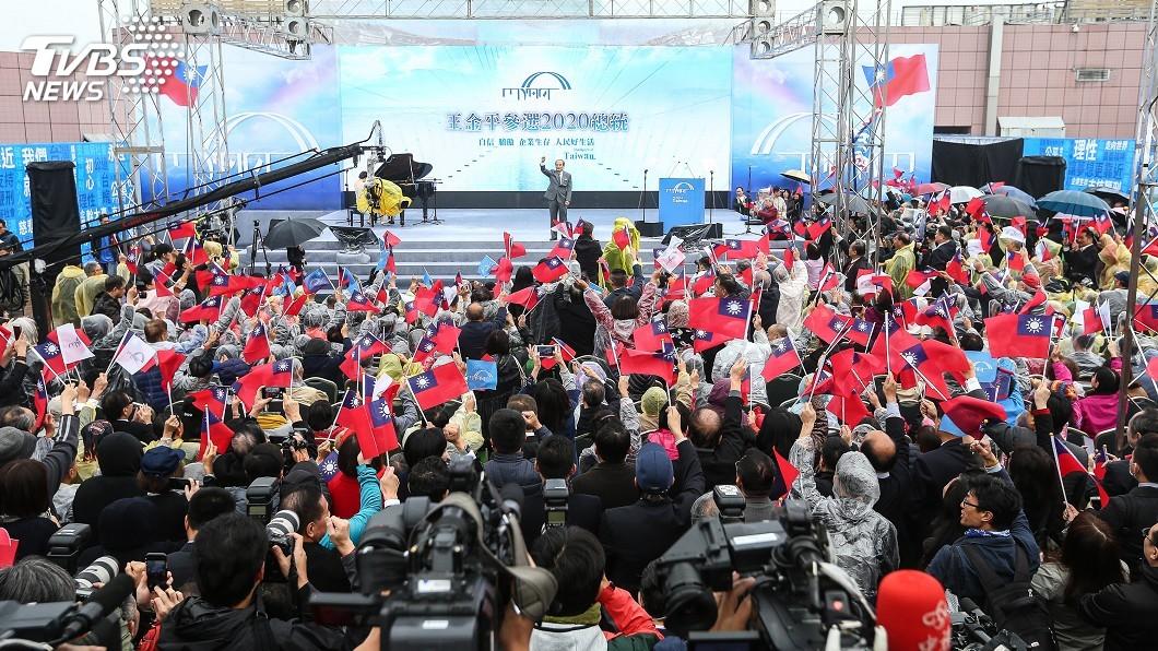 圖/中央社 選總統幹大事!王金平競選看板有亮點 「支持鞭刑」超狂