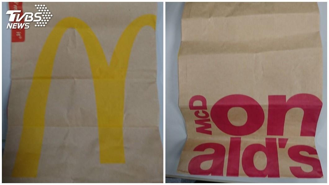 不少民眾到麥當勞買東西時,店員常會用紙袋裝食物。(圖/TVBS) 買麥當勞拿到「黑底紙袋」 超質感設計網曝:限量款