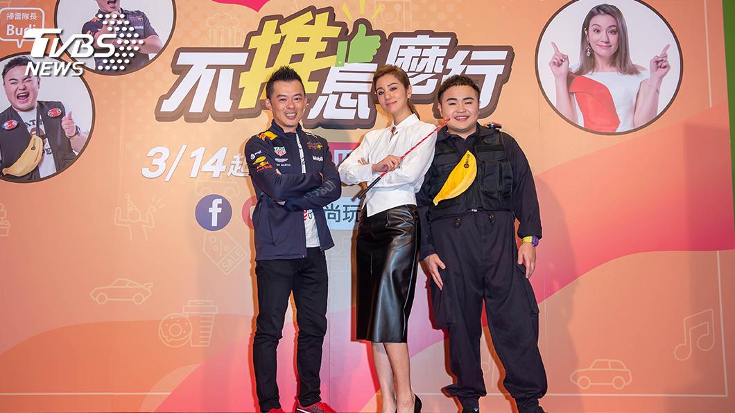TVBS全新原創網路節目《不推怎麼行》主持陣容。(左起)Andy老爹、莎莎、Budi。圖/TVBS 莎莎領軍 全新原創網路節目《不推怎麼行》3/14登場