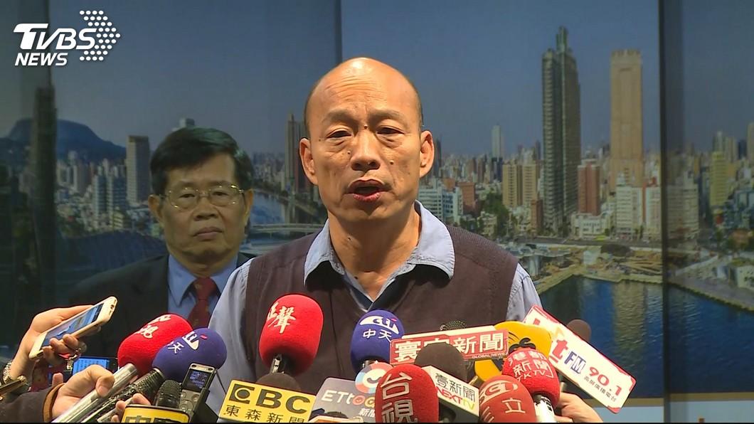 高雄市長韓國瑜。圖/TVBS 韓國瑜61歲是年輕人? 25歲的他自嘲:我是受精卵