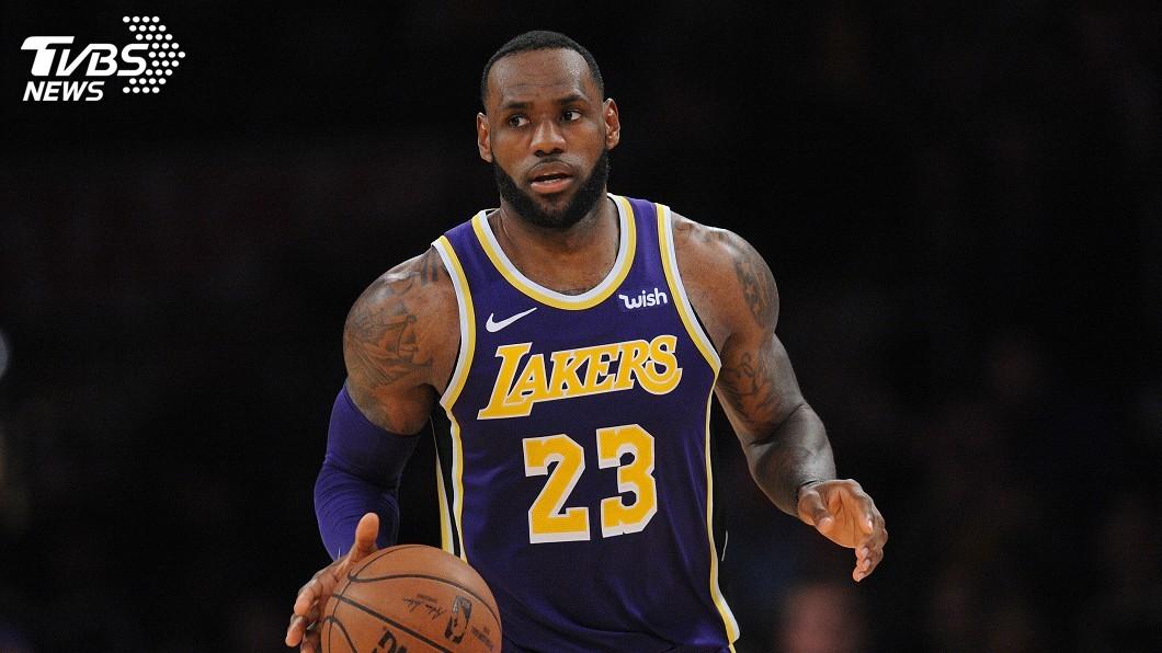 圖/達志影像路透社 NBA湖人進季後賽機會渺茫 詹姆斯上場時間恐限縮