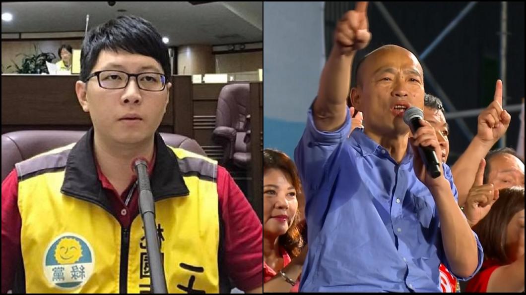 合成圖/翻攝自王浩宇臉書、TVBS 韓國瑜民調「死亡交叉」 他曝:已在選戰中出局