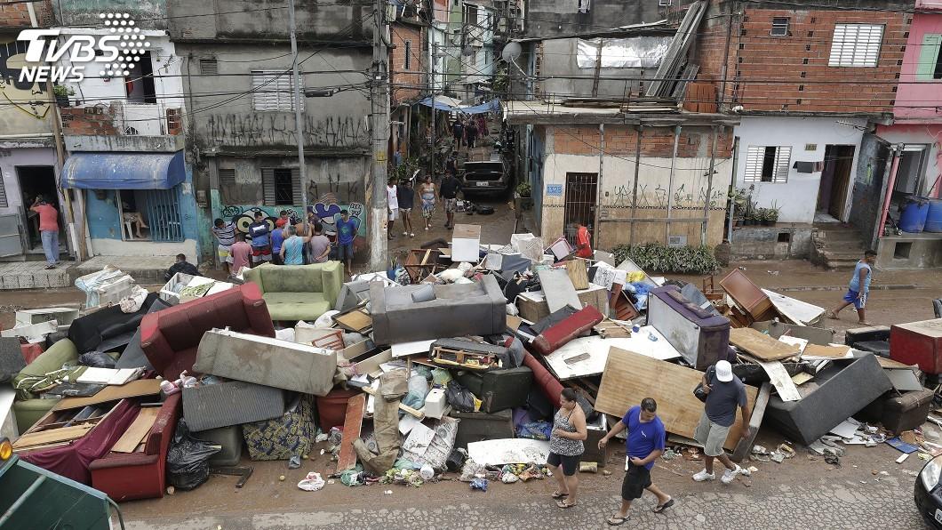 圖/達志影像美聯社 暴雨襲擊巴西聖保羅 災情頻傳至少12死