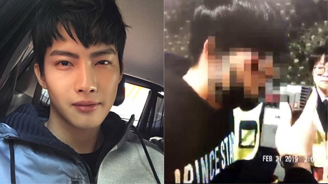 圖/翻攝自張庭瑚臉書、TVBS 鮮肉男星騎車酒駕重摔畫面曝光 臉破相縫4針被法辦