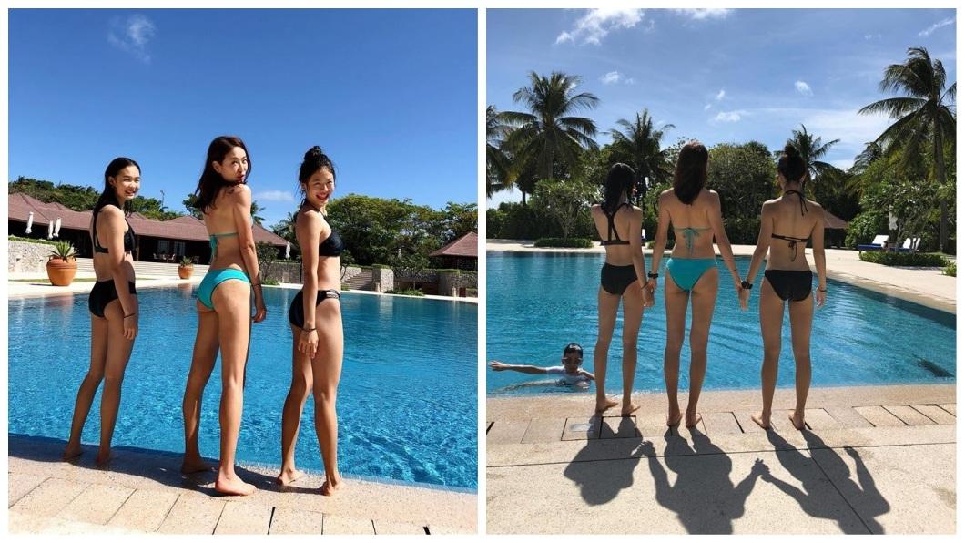 賈永婕還有2個可愛漂亮的女兒,3人站在一起就像是姊妹。(圖/翻攝自賈永婕臉書)