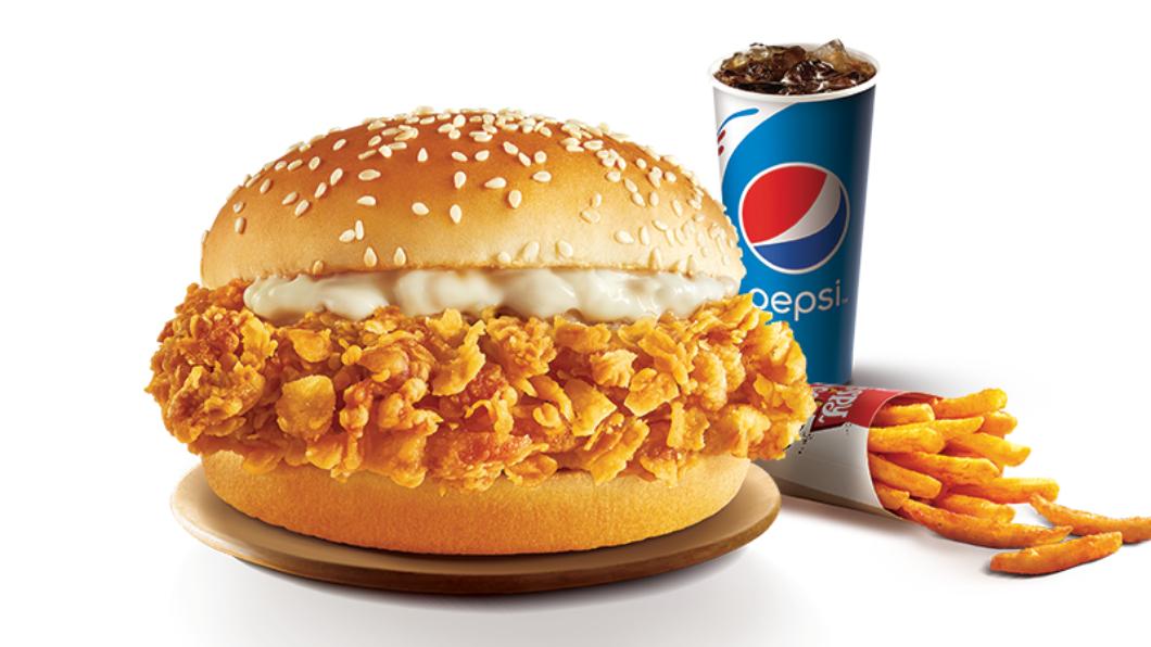 「超值雞省」上校經典脆雞堡套餐。圖/肯德基提供