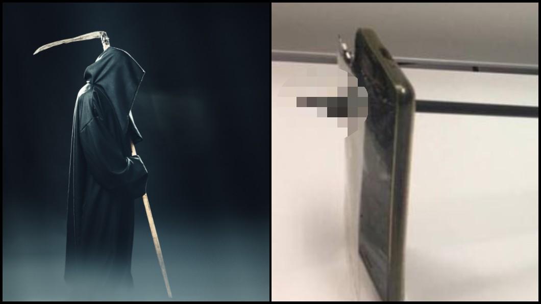 圖/(左)TVBS示意圖,(右)澳洲警方提供 命大!他跟人起衝突「被放箭」 手機擋煞驚險逃離死神