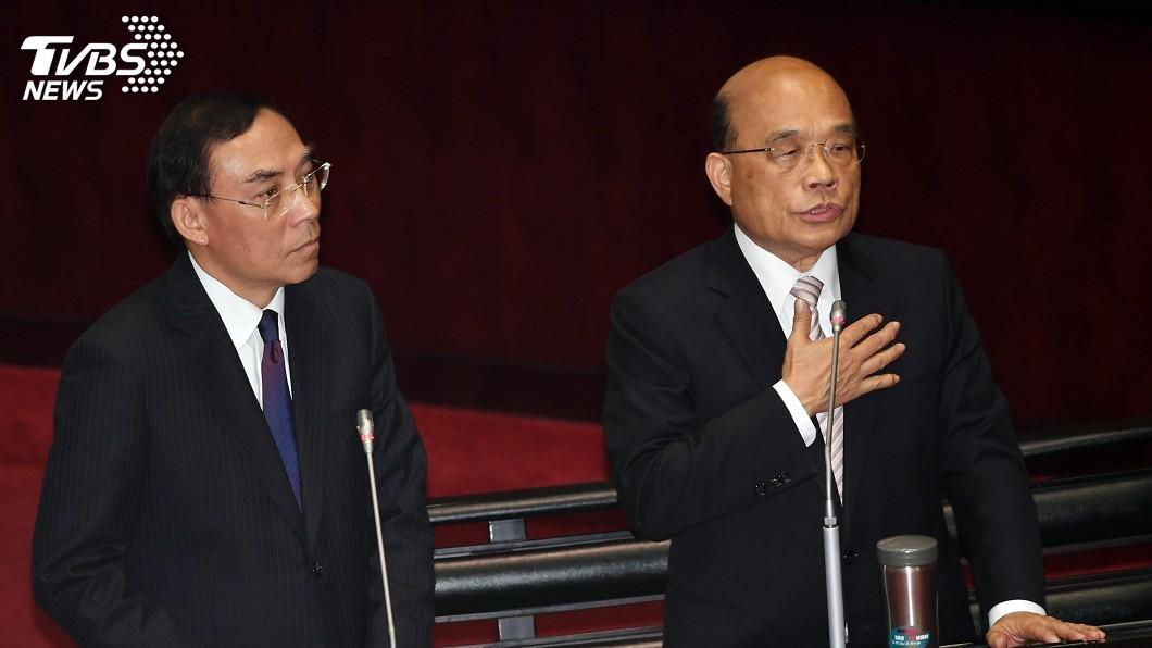 圖/中央社 黃國昌揭司法輕判涉貪案例 蘇貞昌:不能接受