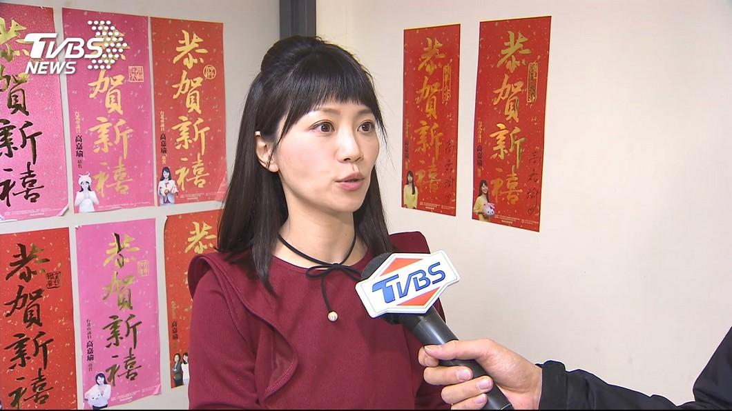 民進黨台北市議員高嘉瑜上節目討論這次選舉結果,對於黨內保住2席仍十分開心。(圖/TVBS)