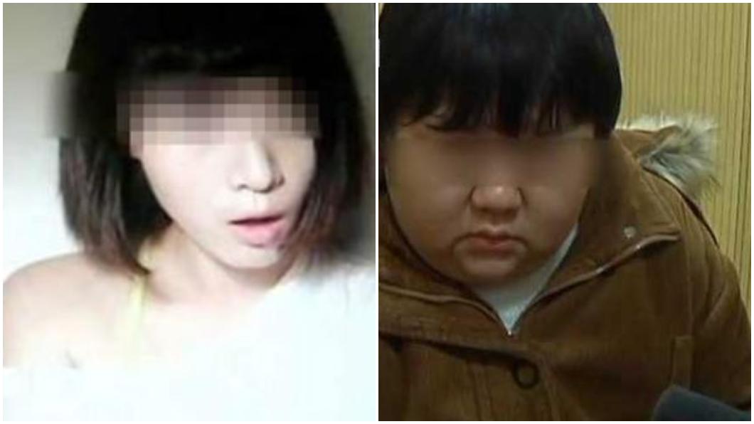 吳女(右)盜用網路美女的照片,到處詐騙!翻攝/看看新聞