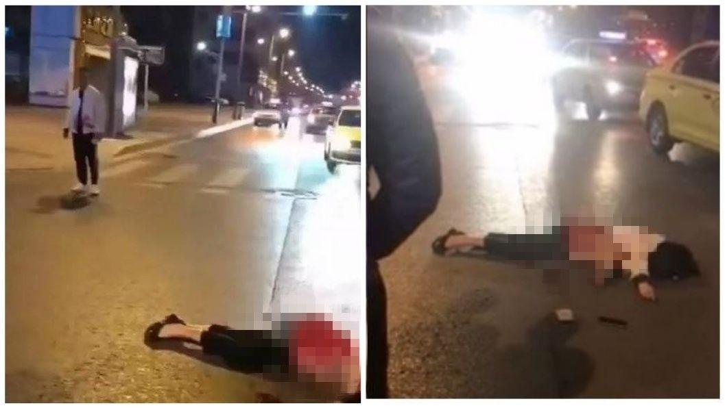 江蘇宿遷日前發生一起駭人聽聞的街頭殺人案。(圖/翻攝自微博) 疑被戴綠帽…當街捅死女友和閨密 男:殺2個肯定上新聞