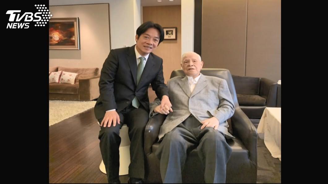 副總統賴清德(左)、前總統李登輝(右)。(圖/TVBS資料畫面) 李登輝98歲辭世 賴清德:民主先生感謝您