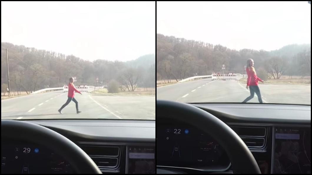 圖/翻攝YouTube KriszXstream  誇張!網紅開特斯拉撞妻 只為測試自駕系統