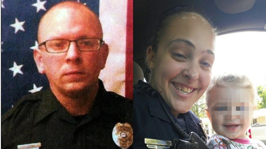 芭克的長官萊德納(左)、芭克與女兒合照(右)。圖/翻攝自每日郵報、臉書 人妻警到長官家偷情! 3歲女丟車上4小時「活活烤死」