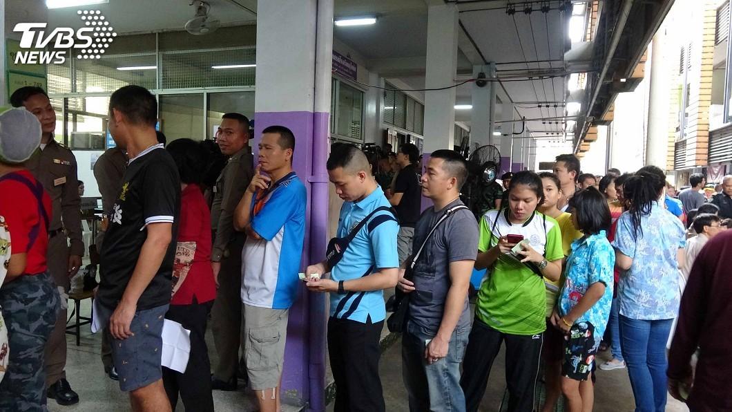 圖/中央社 泰國大選24日登場 5100萬選民決定國家未來